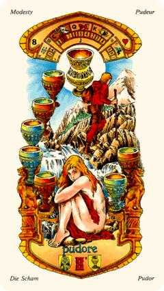 Eight of Bowls Tarot Card - Stella Tarot Deck