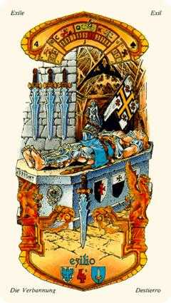 Four of Swords Tarot Card - Stella Tarot Deck