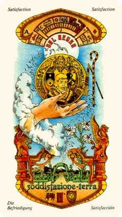 Ace of Coins Tarot Card - Stella Tarot Deck
