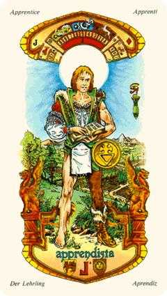 Slave of Pentacles Tarot Card - Stella Tarot Deck