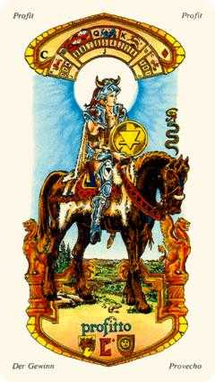 Knight of Coins Tarot Card - Stella Tarot Deck