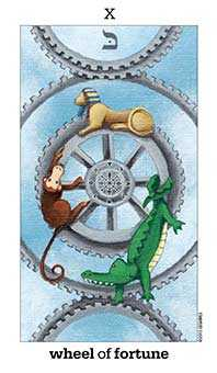 The Wheel of Fortune Tarot Card - Sun and Moon Tarot Deck
