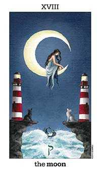 The Moon Tarot Card - Sun and Moon Tarot Deck