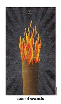 Ace of Fire Tarot Card - Sun and Moon Tarot Deck