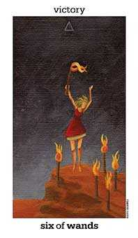 Six of Fire Tarot Card - Sun and Moon Tarot Deck