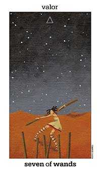 Seven of Wands Tarot Card - Sun and Moon Tarot Deck