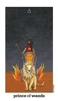 Prince of Staves Tarot Card - Sun and Moon Tarot Deck