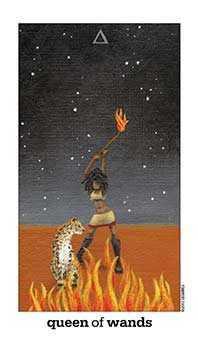 Mother of Fire Tarot Card - Sun and Moon Tarot Deck