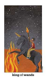 King of Batons Tarot Card - Sun and Moon Tarot Deck