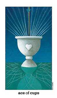 Ace of Cups Tarot Card - Sun and Moon Tarot Deck