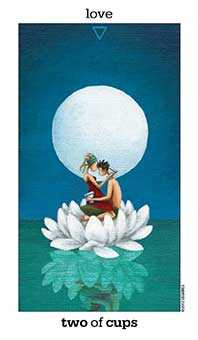 Two of Water Tarot Card - Sun and Moon Tarot Deck