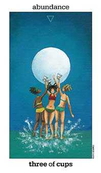 Three of Cups Tarot Card - Sun and Moon Tarot Deck