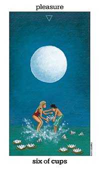 Six of Ghosts Tarot Card - Sun and Moon Tarot Deck