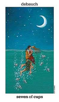 Seven of Water Tarot Card - Sun and Moon Tarot Deck