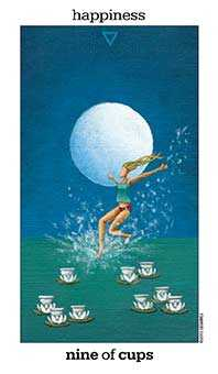 Nine of Cups Tarot Card - Sun and Moon Tarot Deck