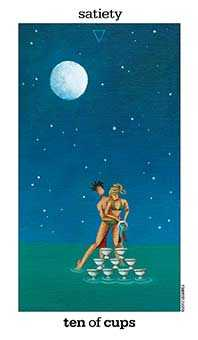 Ten of Hearts Tarot Card - Sun and Moon Tarot Deck