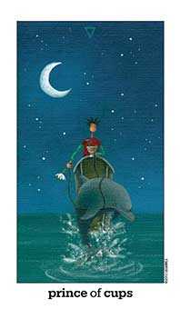 Prince of Cups Tarot Card - Sun and Moon Tarot Deck