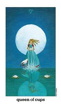 Queen of Cauldrons Tarot Card - Sun and Moon Tarot Deck