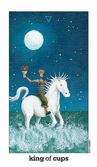King of Cauldrons Tarot Card - Sun and Moon Tarot Deck
