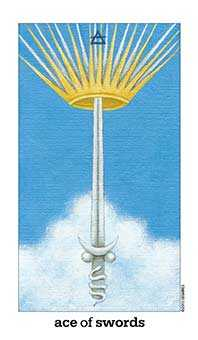 Ace of Bats Tarot Card - Sun and Moon Tarot Deck