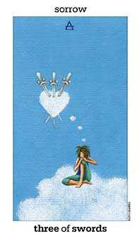 Three of Swords Tarot Card - Sun and Moon Tarot Deck