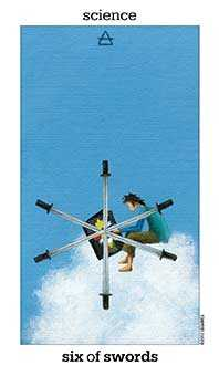 Six of Arrows Tarot Card - Sun and Moon Tarot Deck