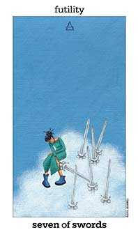 Seven of Swords Tarot Card - Sun and Moon Tarot Deck