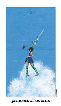 Slave of Swords Tarot Card - Sun and Moon Tarot Deck