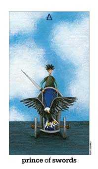 Prince of Swords Tarot Card - Sun and Moon Tarot Deck