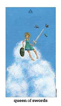 Reine of Swords Tarot Card - Sun and Moon Tarot Deck