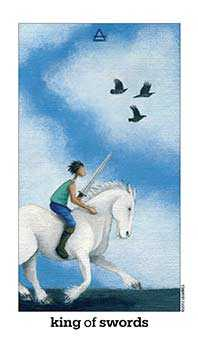 King of Swords Tarot Card - Sun and Moon Tarot Deck