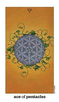 Ace of Discs Tarot Card - Sun and Moon Tarot Deck