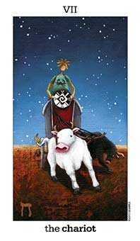 The Chariot Tarot Card - Sun and Moon Tarot Deck