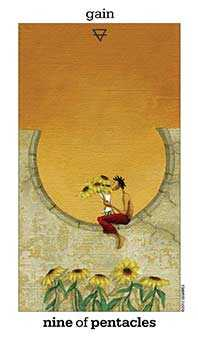 Nine of Discs Tarot Card - Sun and Moon Tarot Deck
