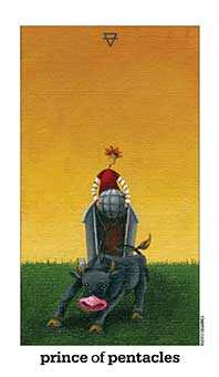 Knight of Buffalo Tarot Card - Sun and Moon Tarot Deck