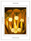 tapestry - Five of Pentacles