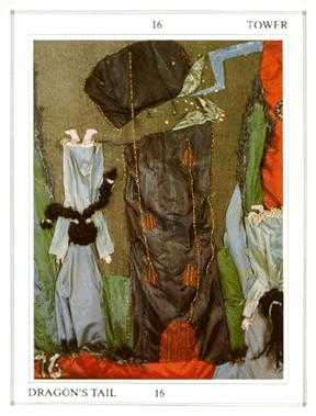 The Falling Tower Tarot Card - Tapestry Tarot Deck