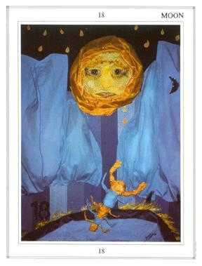 The Moon Tarot Card - Tapestry Tarot Deck