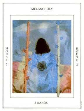 Two of Staves Tarot Card - Tapestry Tarot Deck