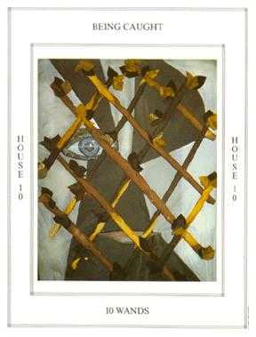 Ten of Staves Tarot Card - Tapestry Tarot Deck