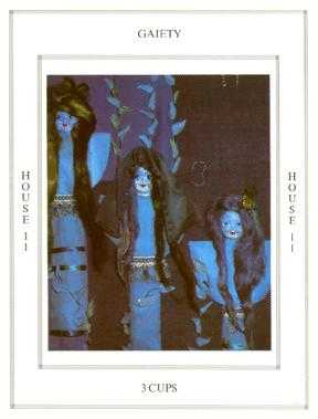 Three of Ghosts Tarot Card - Tapestry Tarot Deck