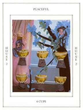 Six of Bowls Tarot Card - Tapestry Tarot Deck
