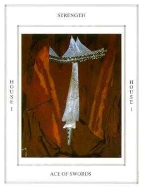 Ace of Bats Tarot Card - Tapestry Tarot Deck