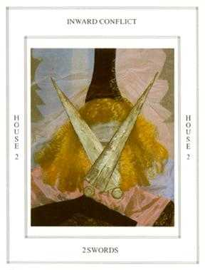 Two of Bats Tarot Card - Tapestry Tarot Deck