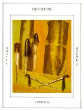 Five of Swords Tarot Card - Tapestry Tarot Deck