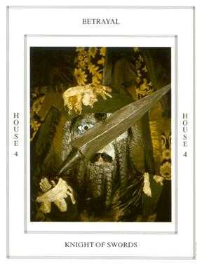 Knight of Spades Tarot Card - Tapestry Tarot Deck