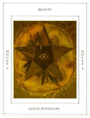 Ace of Discs Tarot Card - Tapestry Tarot Deck