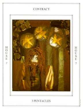 Three of Pumpkins Tarot Card - Tapestry Tarot Deck