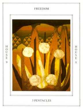 Five of Diamonds Tarot Card - Tapestry Tarot Deck