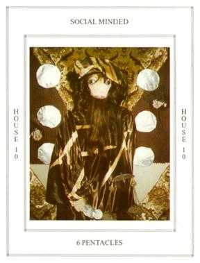 Six of Stones Tarot Card - Tapestry Tarot Deck